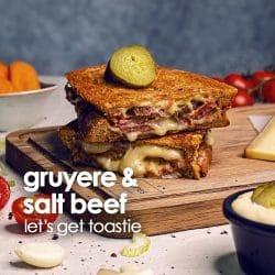 Gruyere & salt beef toastie